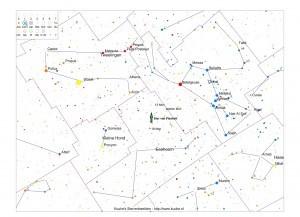 De ster van Plaskett in Monoceros