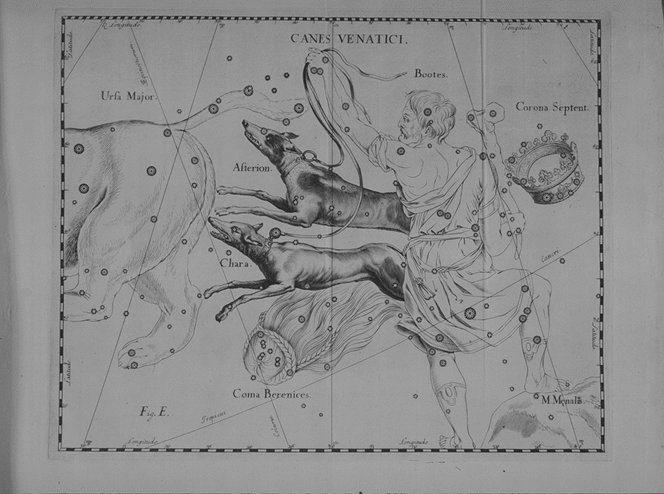 Cenes Venatici uit de steratlas van Johannes Hevelius