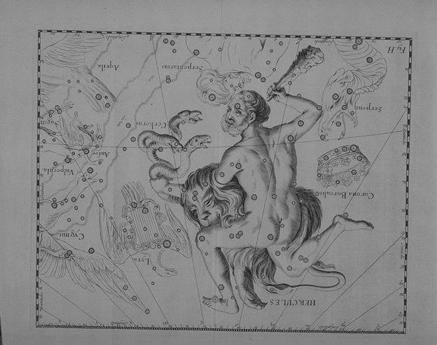 Hercules uit de Uranographia