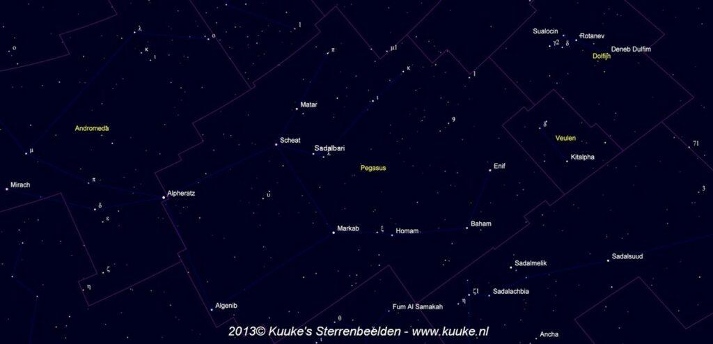 Pegasus - namen van de sterren