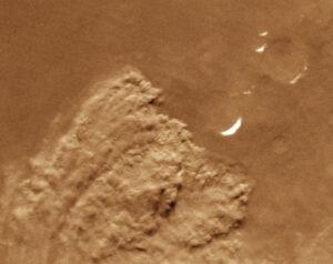 Immense stofstorm op Mars, waargenomen vanuit een baan om de planeet