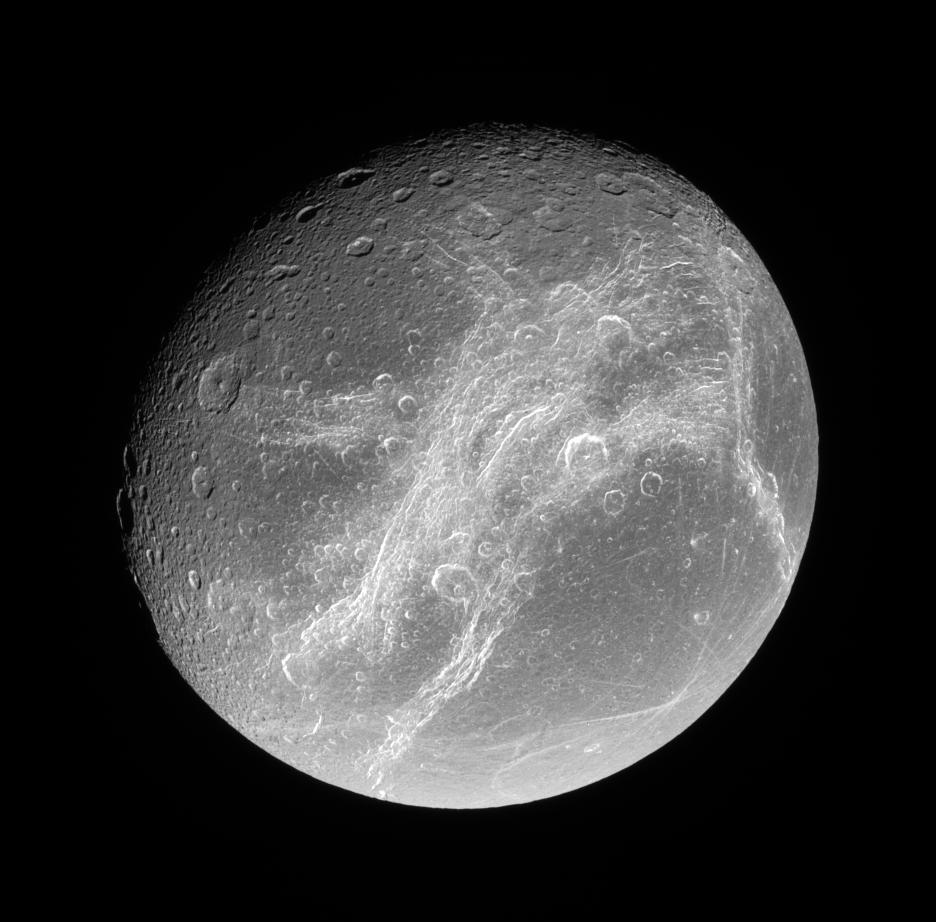 Dione - maan van Saturnus
