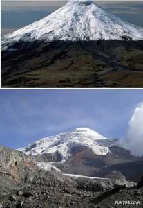De Chimborazo in het Andesgebergte van Equador