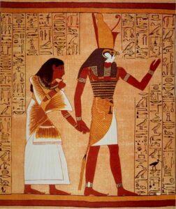 Horus, de schrijver van de Egyptische goden