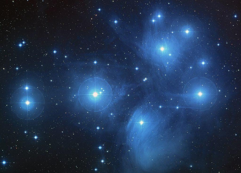 De Pleaiden - Messier 45 in Taurus