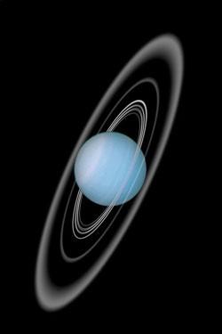 Uranus en zijn ringen