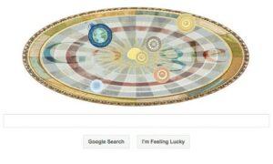 Copernicus Google Doodlee doodle