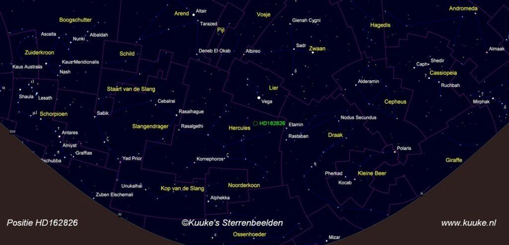 De ster HD162826