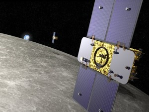 GRAIL in een baan om de Maan