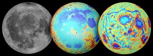 De Maan in drie opnames