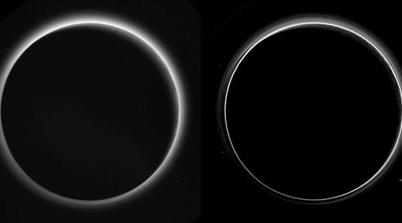 De ijle mistlagen die de atmosfeer van Pluto vormen