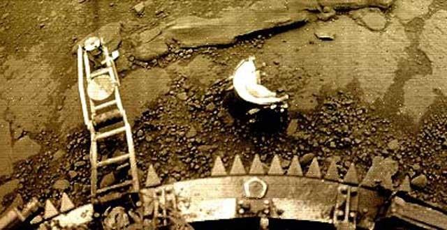 Venera 13 fotografeert de bodem van Venus