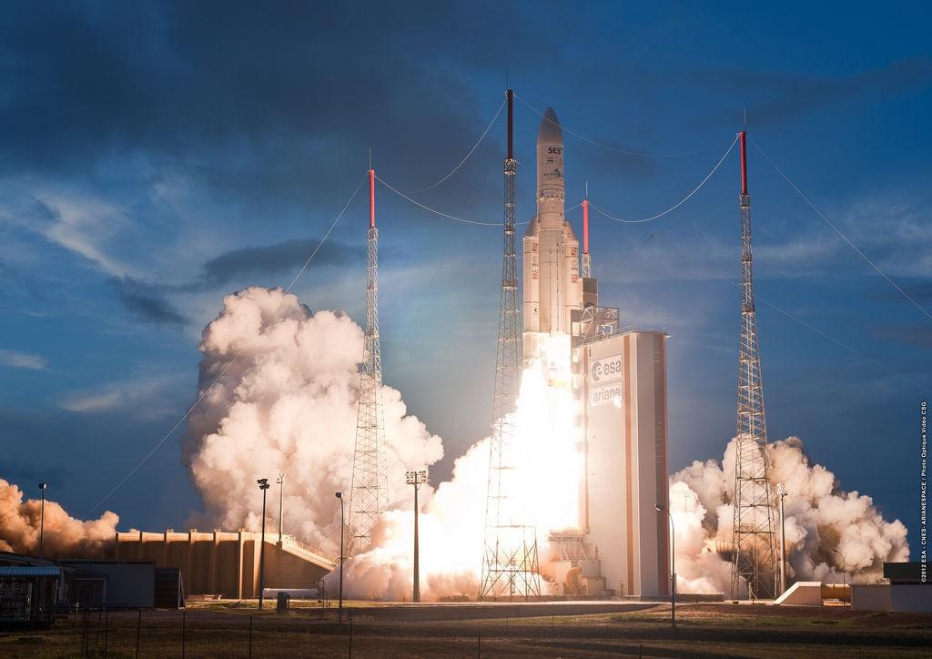 lancering van een Ariane-5