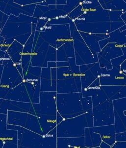Zoekkaart voor Spica - 1 mei