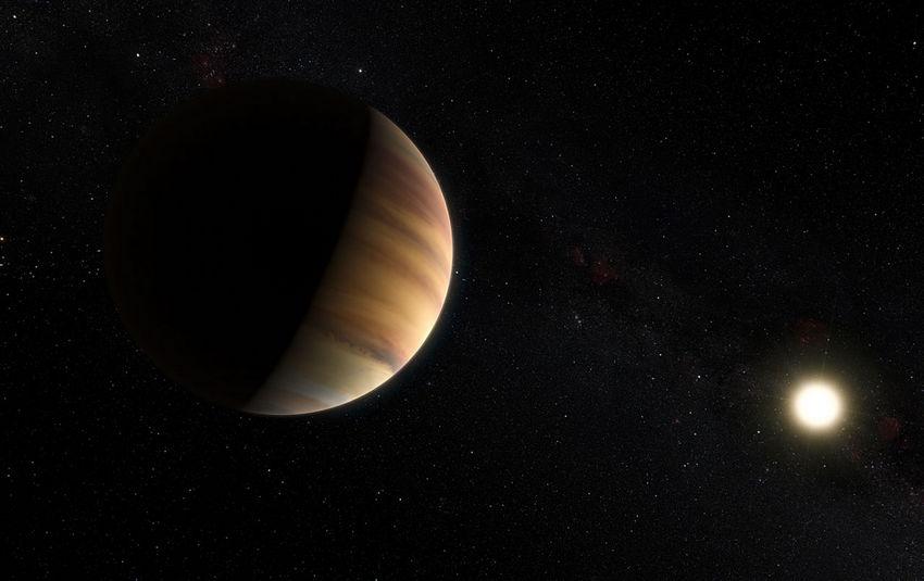 Artist impressie van de planeet 51 Pegasi b