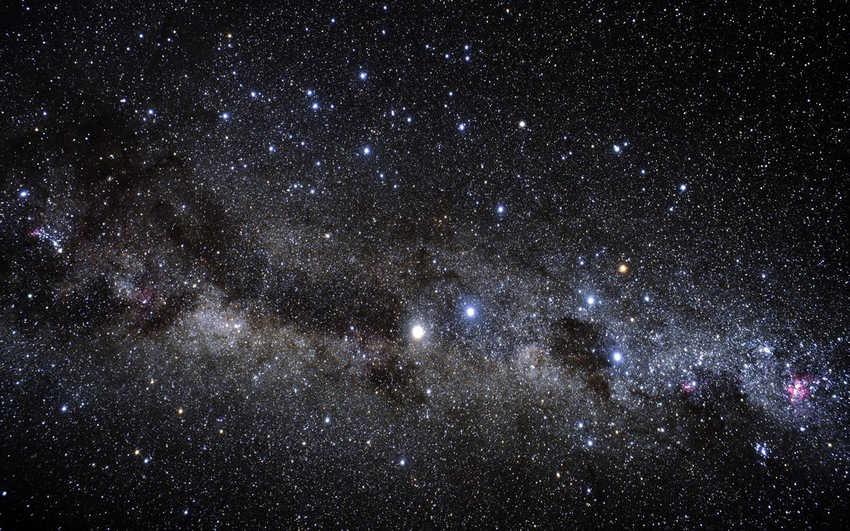 DDe ruimte gezien vanaf de Aarde.