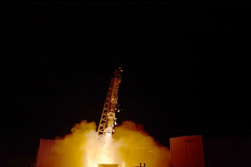 lancering van een sondeerraket