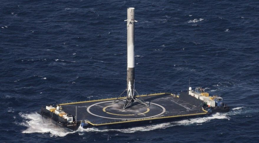 Falcon 9 verticale landing op drone schip