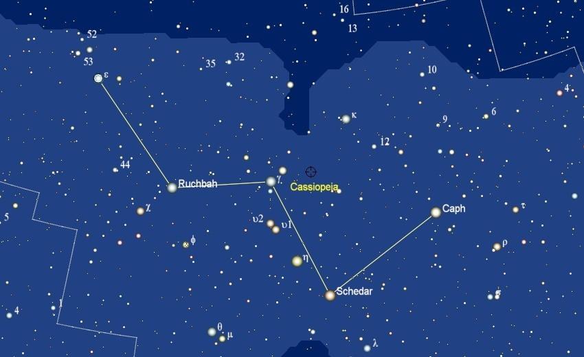 Het sterrenbeeld Cassiopeia