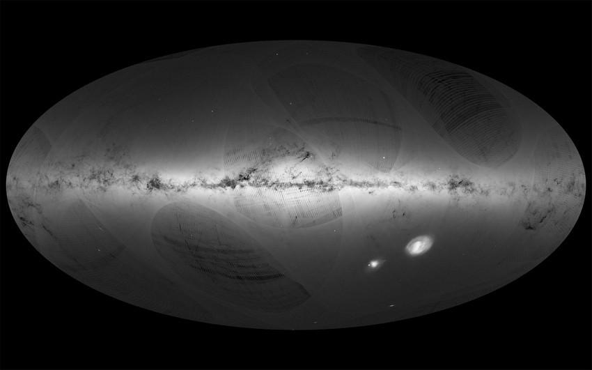 kaart van ons melkwegstelsel gemaakt door de Europese GAIA