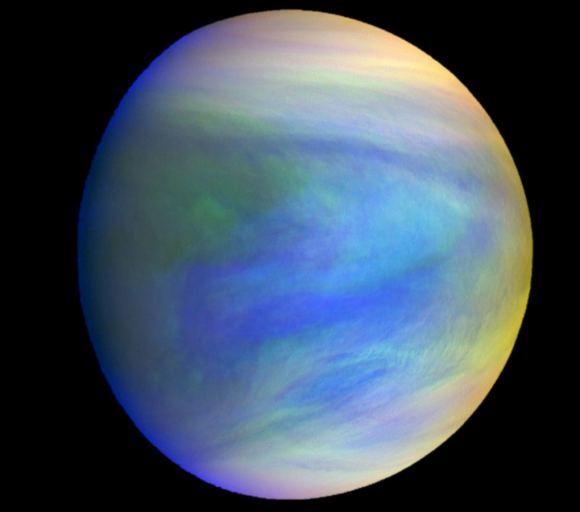 Venus gefotografeerd oor de Akatsuki