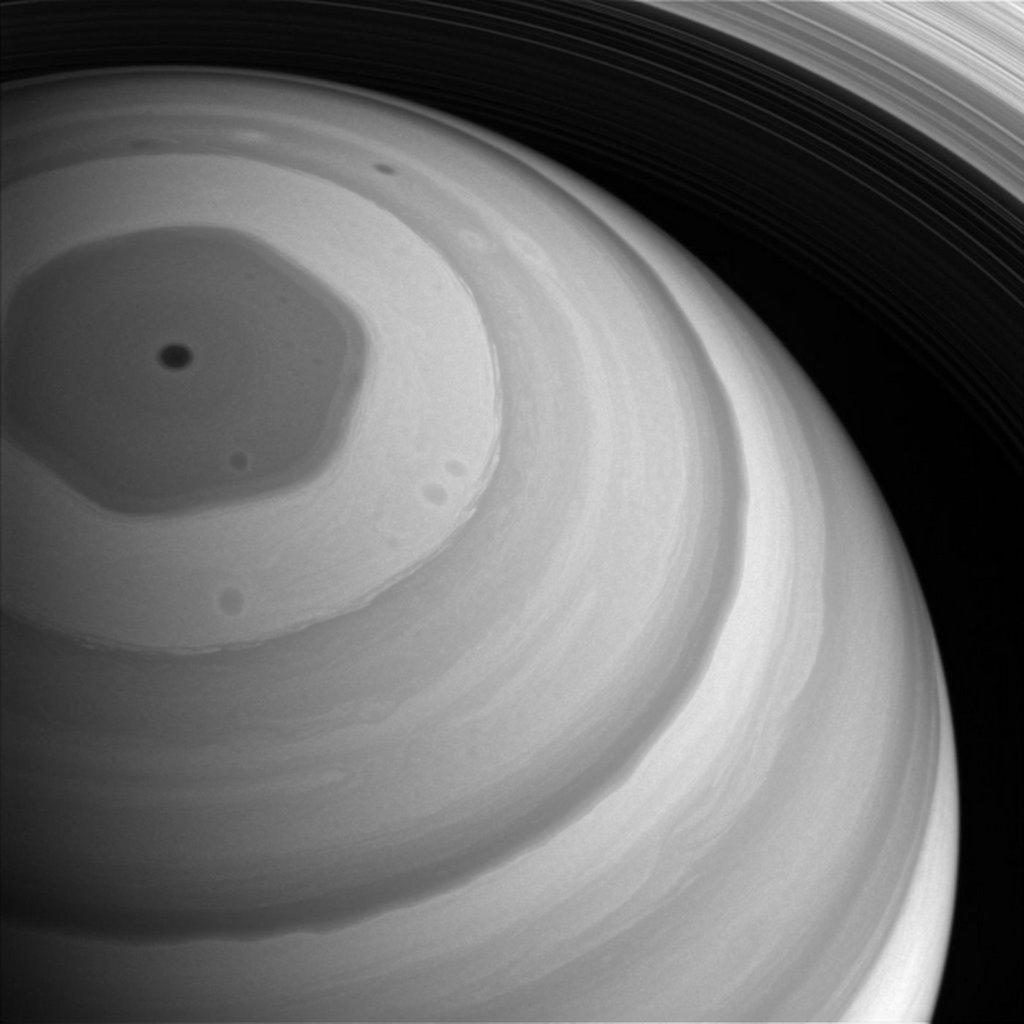 Foto van de straalstroom eind 2016 door de Cassini