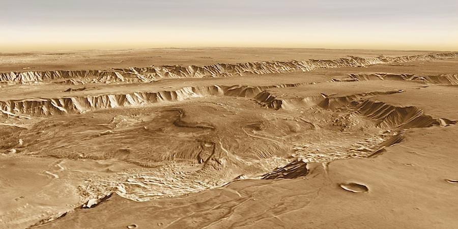 Candor Chasma op Mars
