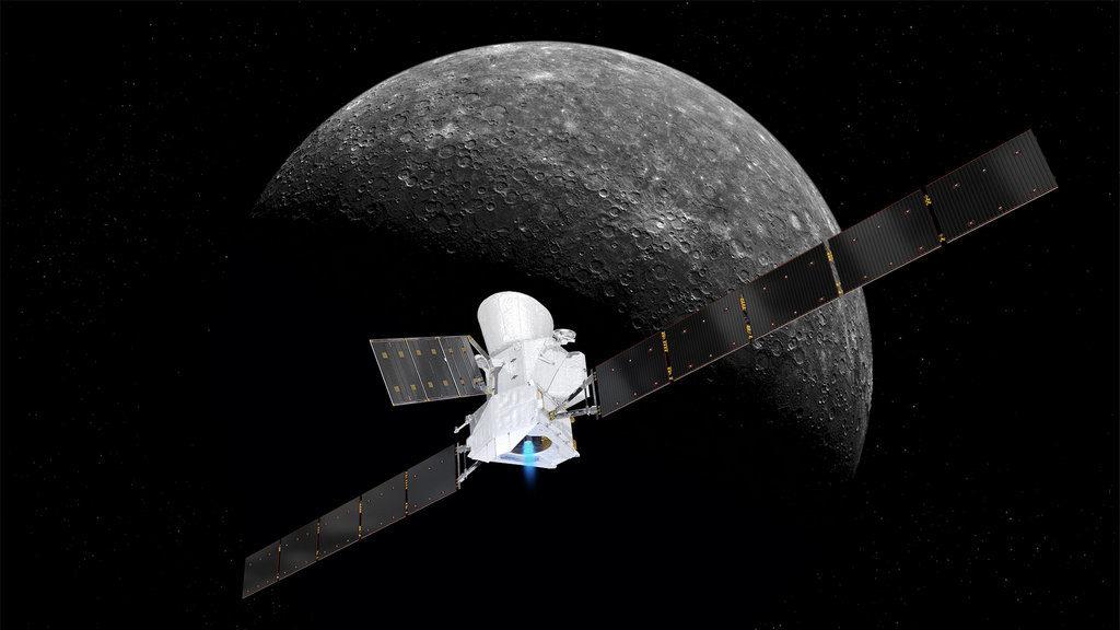 configuratie BepiColombo tijdens reis naar Mercurius