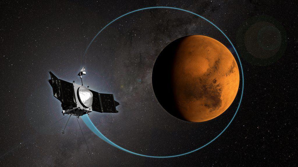 Maven in een baan om Mars