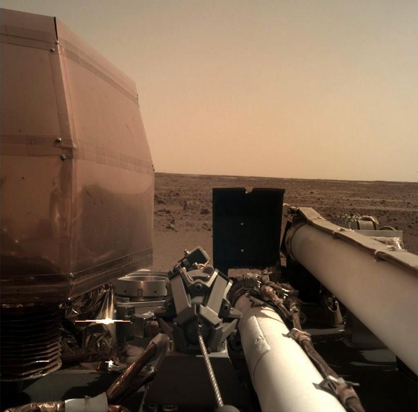 InSight opname van Mars