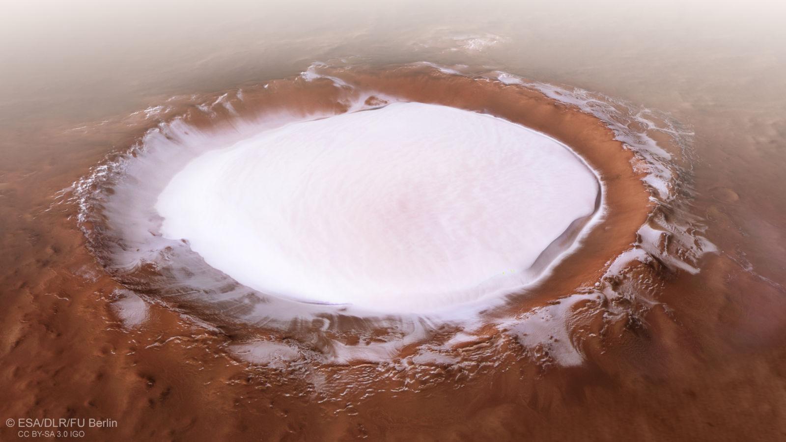 Korolev krater op Mars