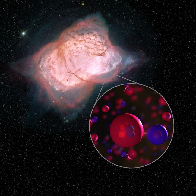 Heliumhydride gevonden in verre nevel