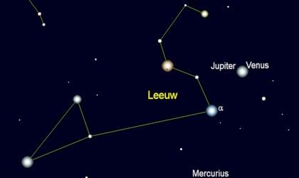 samenstand tussen Venus en Jupiter op 12 augustus 3 v. Chr.