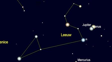 samenstand tussen Venus en Jupiter op 13 augustus 3 v. Chr.