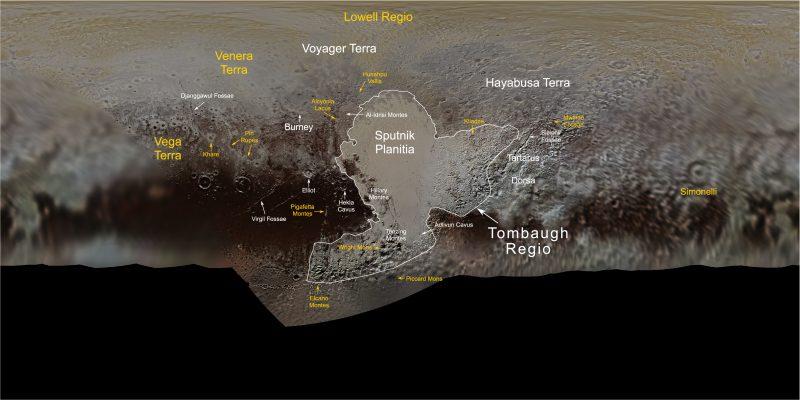 Nieuwe kaart Pluto