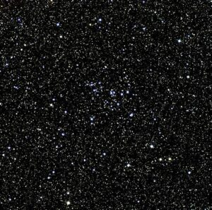 NGC 7243 in Lacerta