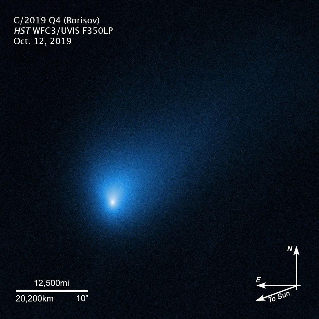 Hubble fotografeert komeet Borisov