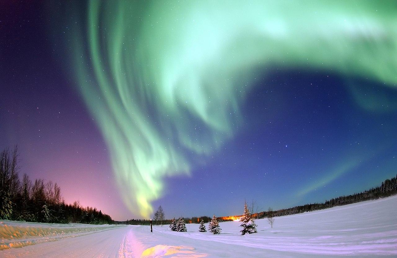 Noorderlicht boven Alaska