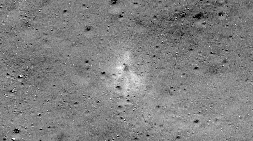 Crashsite Vikram lander