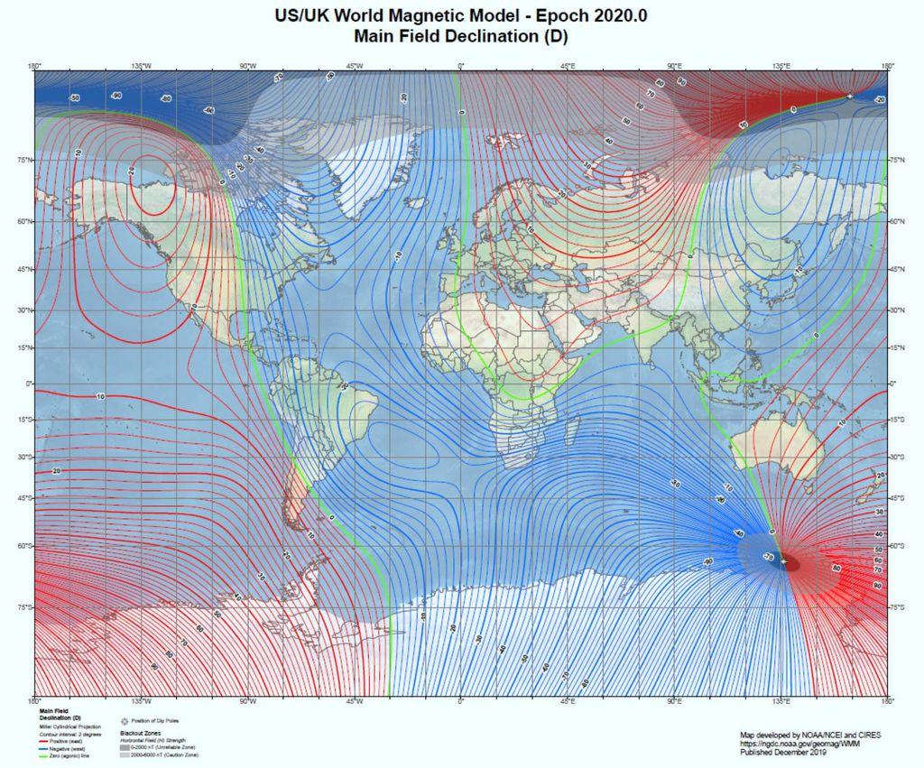 World Magnetic Model 2020