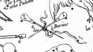 Caelum uit de Atlas Céleste van Jean Fortin