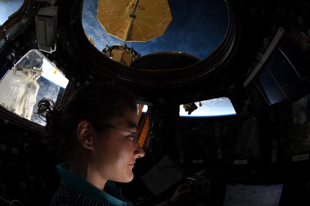 Christina Koch in het ISS
