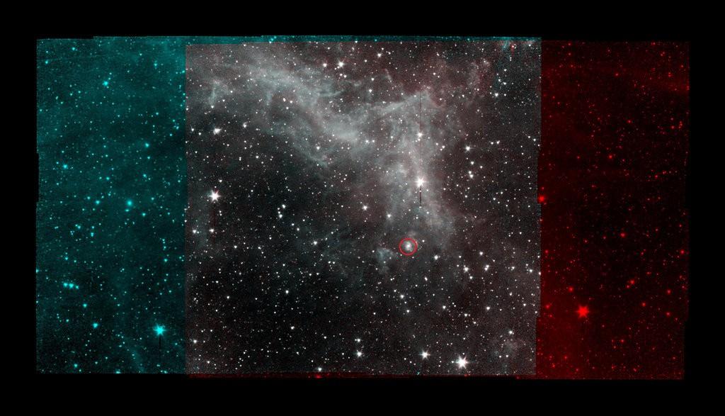 De Californië-nevel gezien door de Spitzer Space Telescope