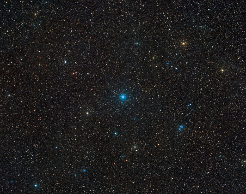 Sterrenbeeld Telescopium en omgeving