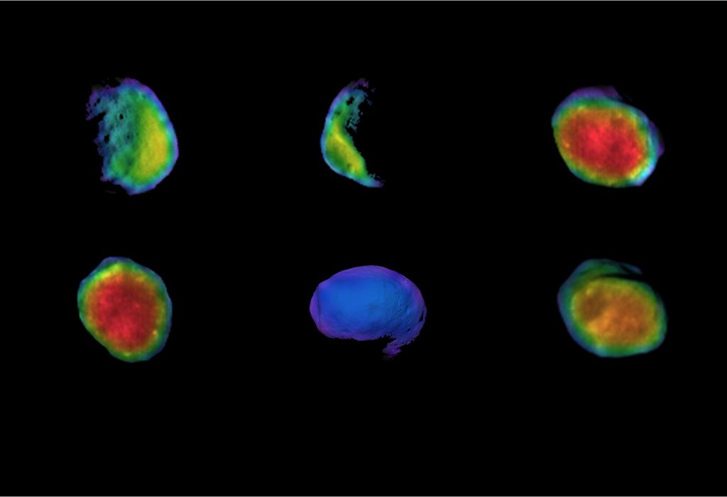 THEMIS-opnames van de maan Phobos van Mars