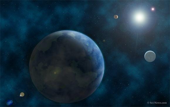 artist impressie van een exoplaneet