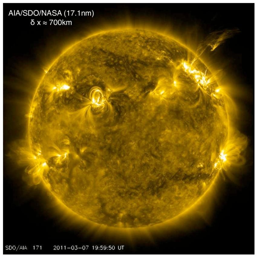 De Zon gefotografeerd door het Solar Dynamics Observatory