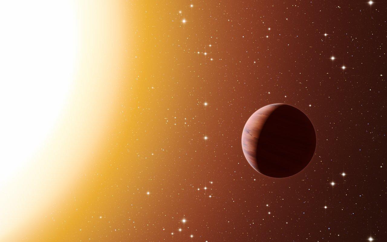 artist impressie van een hete Jupiter