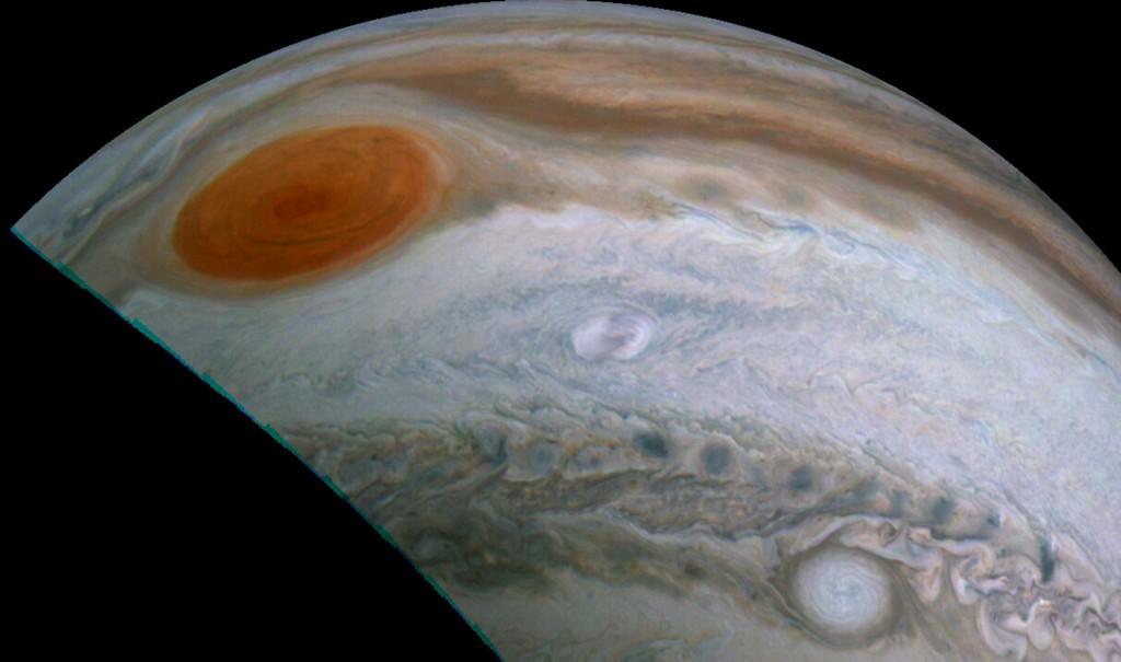 Clyde's Vlek gefotografeerd door de Juno ruimtesonde