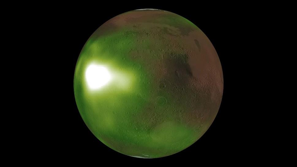 De vreemde gloed op Mars